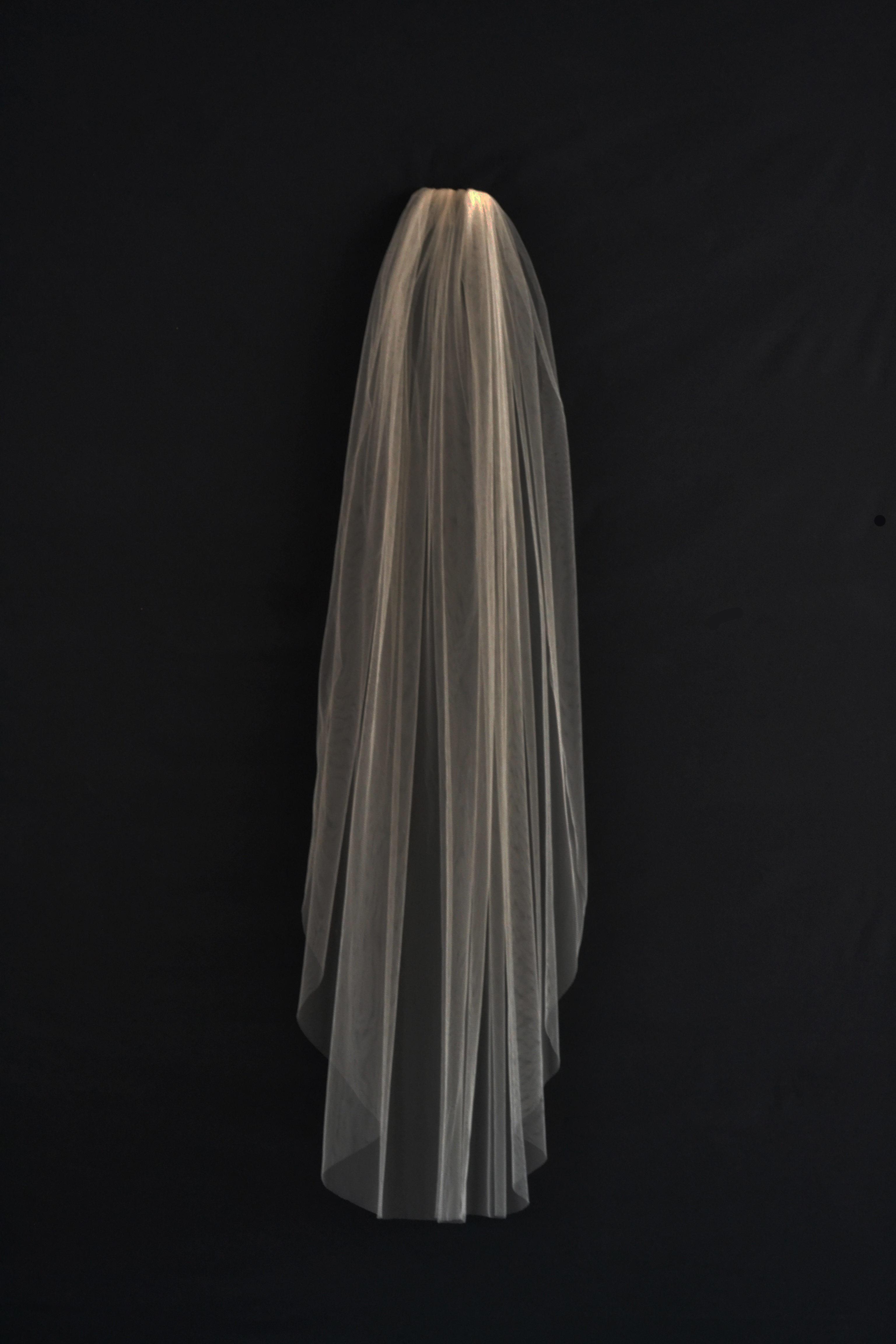 Short veil silk